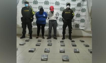 Capturan a pareja con 20 panelas de cocaína en el Cesar