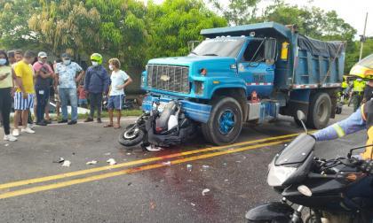 Accidente en Campeche deja un motorizado herido