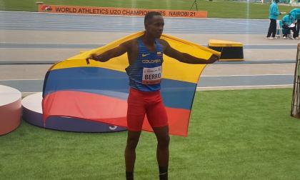 Jhon Berrío ganó medalla plateada en salto largo del Mundial sub-20 de Atletismo