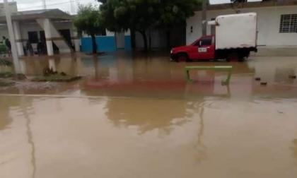 Barrios afectados  por lluvias en Riohacha