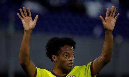Juan Guillermo Cuadrado fue la figura de la cancha en el partido Paraguay 1, Colombia 1