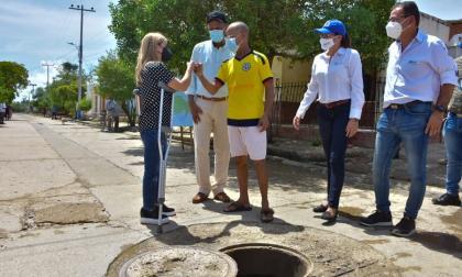 A buen ritmo avanza la rehabilitación del alcantarillado en Repelón