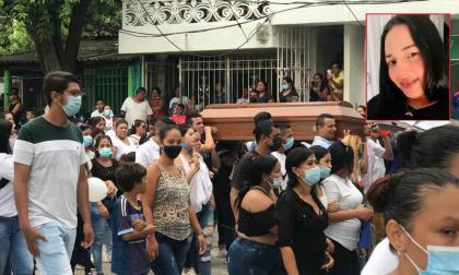 Sepultaron a Rafaela Petit, una de las 6 víctimas en la tragedia de Gaira