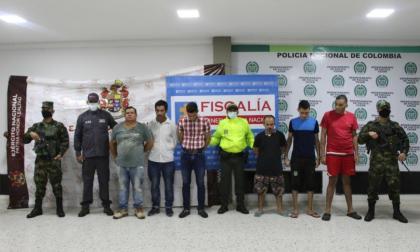 Capturan a 11 presuntos integrantes de 'Los Pachenca' en Cesar