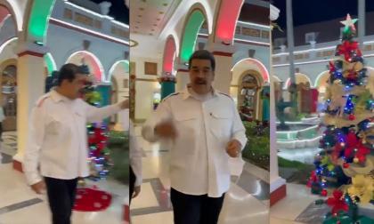 Nicolás Maduro le madrugó a diciembre con su decoración navideña