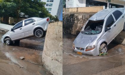 Arroyo arrastró un vehículo en el norte de Barranquilla
