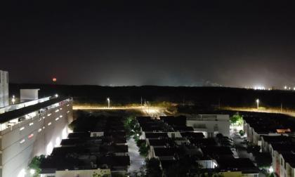 En imágenes   La luna roja se vio en Barranquilla