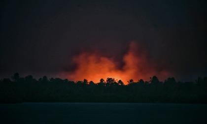 Así se ven las quemas de la Isla Salamanca desde el Gran Malecón