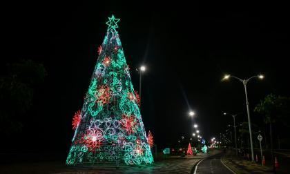 Barranquilla enciende su alumbrado navideño