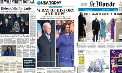 Así registraron los medios la toma de posesión de Biden y Harris