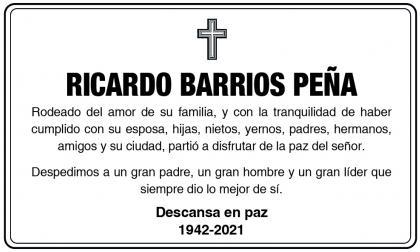 Ricardo Barrios Peña