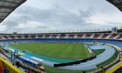 Momentos del partido entre Colombia y Argentina en el Metropolitano
