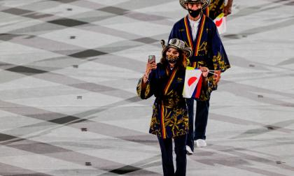 Los uniformes que se llevan la presea dorada en los juegos olímpicos