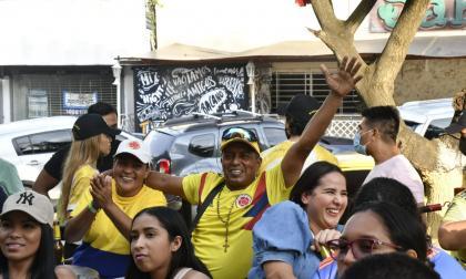 En imágenes: Barranquilleros animan a la Selección Colombia