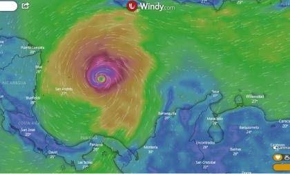 Siga aquí la trayectoria del huracán Iota en el Mar Caribe