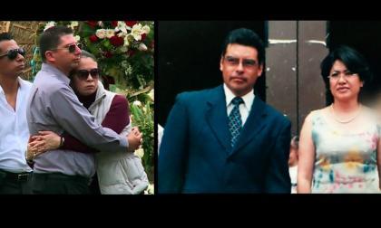 La pareja que murió abrazada durante el sismo en México