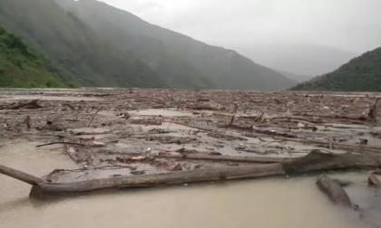 Así se ve el río Cauca por la emergencia de Hidroituango