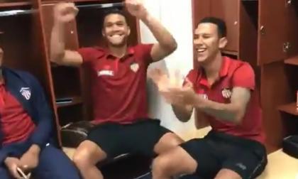 A ritmo de Diomedes, jugadores de Junior celebraron en el camerino de El Campín