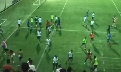 En video   Final de Torneo Sub-14 entre Junior y Colombia Sport termina con gresca