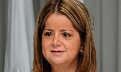 Alcaldesa Elsa Noguera, en un evento de ayer.