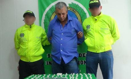 """Alias """"Pompeyo"""" fue capturado esta mañana por la Policía en el barrio Calle Grande del corregimiento de San José de Saco."""