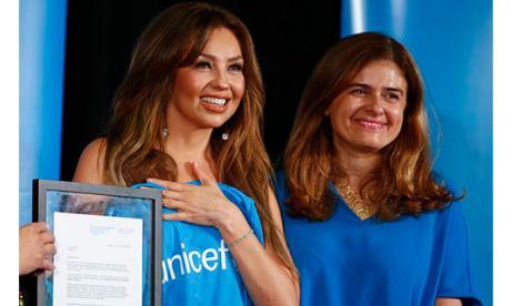 Thalía es nombrada embajadora de Buena Voluntad de Unicef para México