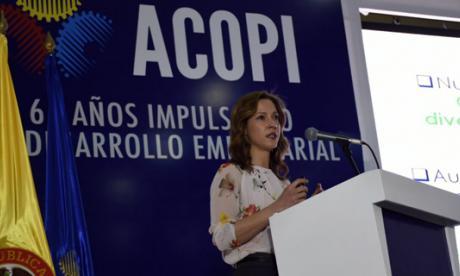María Claudia Lacouture, ministra de Comercio, Industria y Turismo.