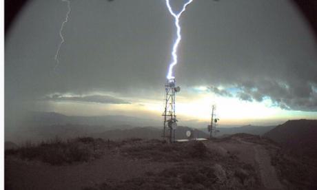 Aspecto de una tormenta eléctrica.