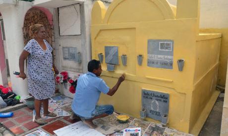 La tumba de los Pereira hoy estará reluciente en Mamatoco