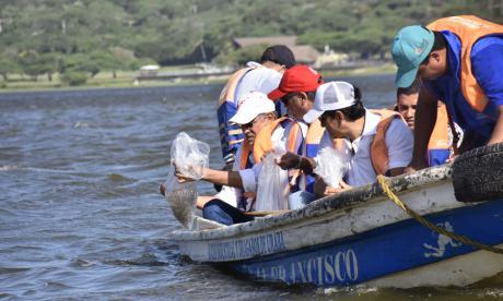Siembran 60.000 alevines para recuperar la pesca en El Cisne
