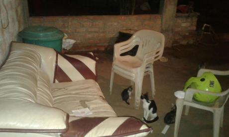 En este lugar se produjo el ataque sicarial del barrio Villa Luz, en Barrancas, La Guajira.