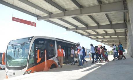Transcaribe inauguró plataformas de trasbordo de Patio Portal