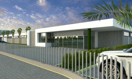 Render de la nueva sede del Sena que se construirá en Villas de San Pablo.