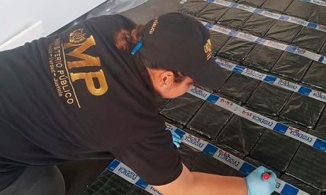 Droga incautada por la policía.