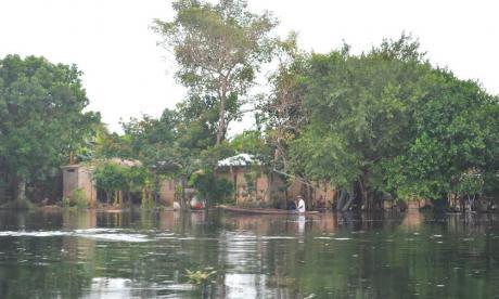 Río San Jorge tiene más de dos mil familias afectadas por el invierno