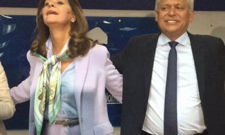 Marta Lucía Ramírez junto a Hernán Andrade.