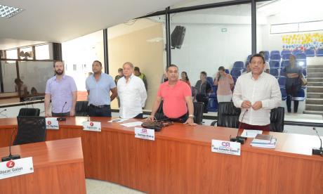 Sesión ordinaria del Concejo celebrada el día de ayer.