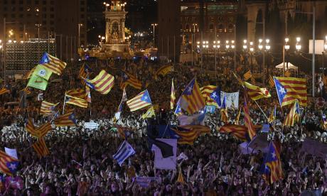 Alta tensión en Cataluña