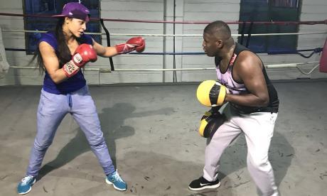 Dayana Cordero ya entrena en Medellín