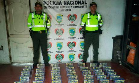 Policía decomisó 20 kilos de pólvora blanca en el peaje de Galapa
