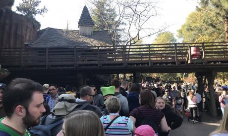 Estado de uno de los parques de Disney este miércoles
