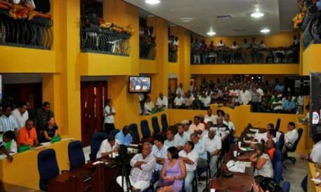 Aspectos de un debate en el Concejo distrital de Cartagena.