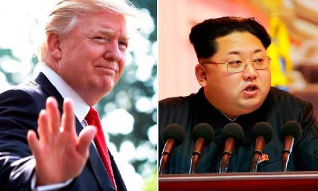 El presidente Trump y el líder de Corea del Norte Kim Jong-Un