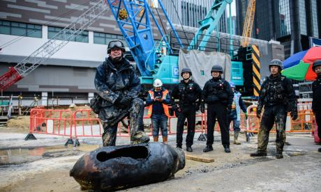 Hallan otra bomba de la Segunda Guerra Mundial en Hong Kong