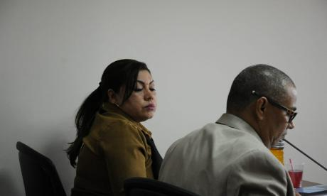Audiencia preparatoria de juicio de Oneida Pinto.