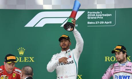 Lewis Hamilton gana el Gran Premio de Azerbaiyán