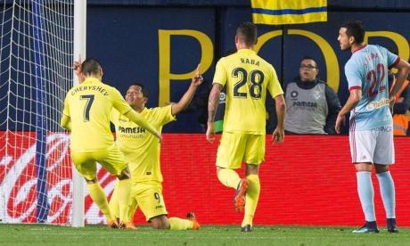Carlos Bacca celebra uno de sus tantos ante el Celta.