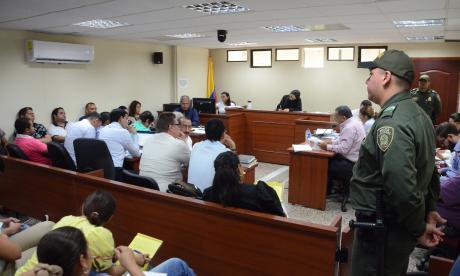 Audiencia que se realizó en el Juzgado Primero Penal Bacrim de Valledupar .