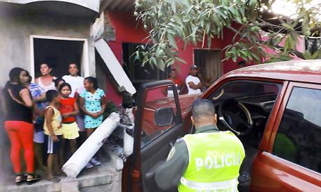 Lugar del accidente en el barrio Maicaito donde murió una niña.