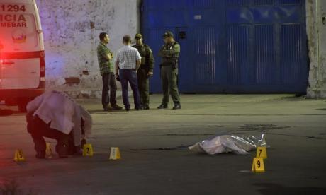 Lugar donde quedó tendido el cuerpo de Lisette Rojas.